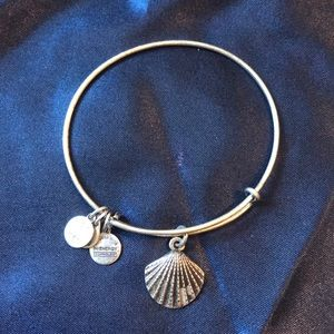 Alex & Ani Silver Shell bangle